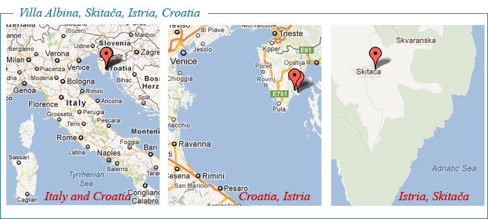 Istrian Country Villa, Albina, Map